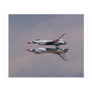 Thunderbird Mirror Fly By Postcard
