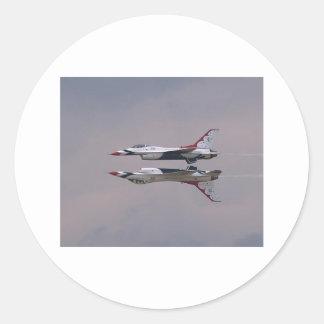 Thunderbird Mirror Fly By Round Sticker