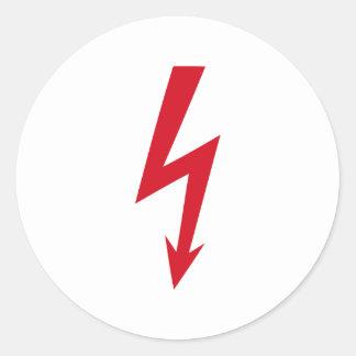 Thunderbolt Classic Round Sticker