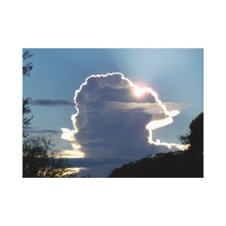thunderhead cloud blocks the sun canvas print