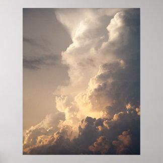 Thunderhead Cloud Heaven Sky Storm Clouds Poster
