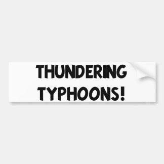 Thundering Typhoons! Bumper Sticker
