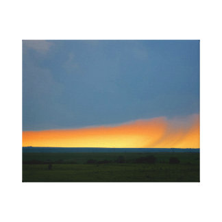 Thunderstorm in the Flint Hills of Kansas Canvas Print