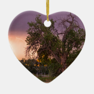 Thunderstorm_In_The_Woods Ceramic Heart Ornament