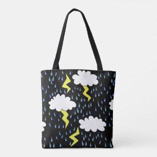 Thunderstorm Lightning strikes Tote Bag