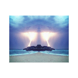 Thunderstorm on the Beach Unique Artwork Canvas Print