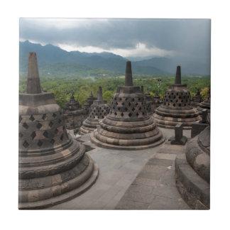 Thunderstorm over Borobudur Tile