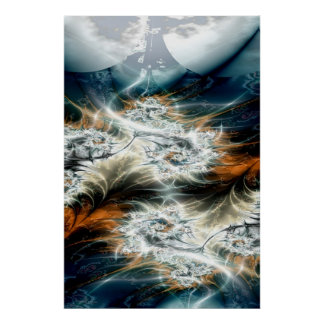thunderstorm over the valley poster