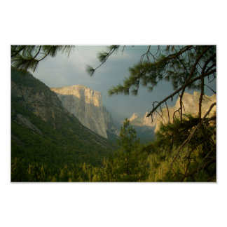 Thunderstorm over Yosemite Valley Poster