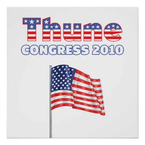 Thune Patriotic American Flag 2010 Elections Posters