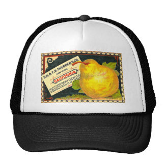 Thurber Pears Vintage Crate Label Trucker Hats