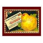 Thurber Pears Vintage Crate Label Postcard