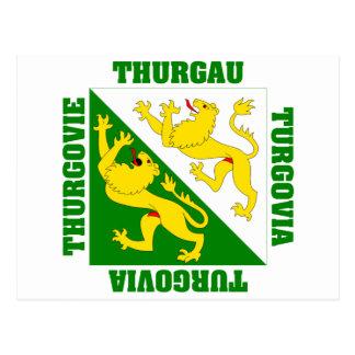 Thurgau Switzerland Canton Flag Post Card