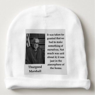 Thurgood Marshall quote Baby Beanie