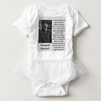 Thurgood Marshall quote Baby Bodysuit