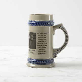 Thurgood Marshall quote Beer Stein