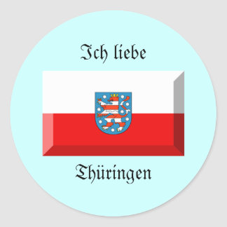 Thuringen Flag Gem Classic Round Sticker
