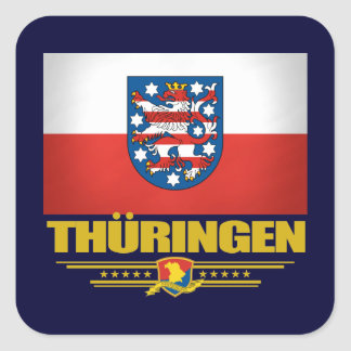 Thuringen (Thuringia) Flag Square Sticker