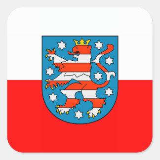 Thuringia national flag square sticker