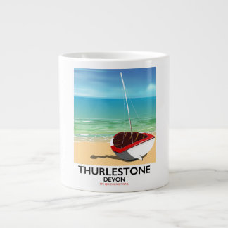 Thurlestone South Devon travel poster Large Coffee Mug