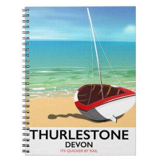 Thurlestone South Devon travel poster Spiral Notebook