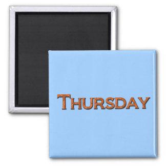 Thursday Teaching or Memory Aid Magnet