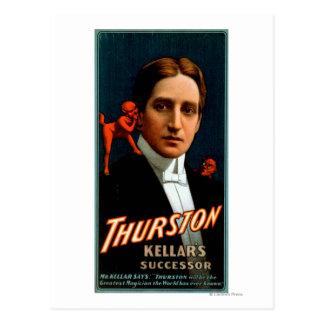 Thurston, Devil telling him secrets Magic Postcard