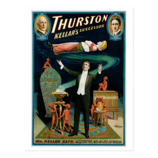 Thurston ~ Kellar's Successor Vintage Magic Act Postcard