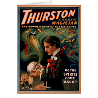 Thurston  Magician Birthday card