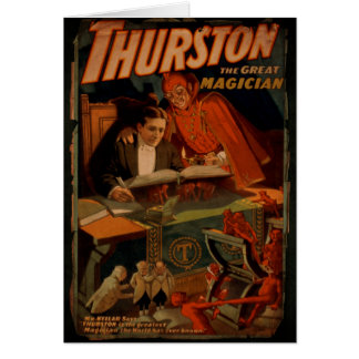 Thurston The Great Magician Vintage Magic Card