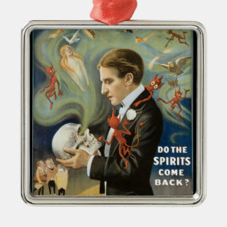 Thurston The Great Vintage Magician Poster Metal Ornament