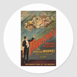 Thurston - The Vanishing Whippet Classic Round Sticker