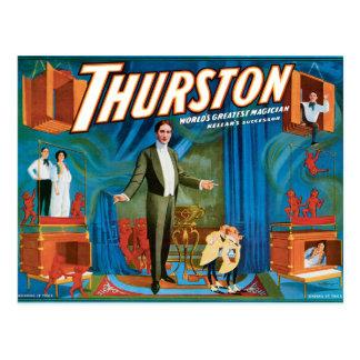 Thurston Vintage 1910 Magician Poster Postcard