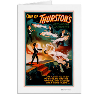 Thurston's Astounding Mysteries Magic Poster Card