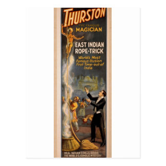 Thurston's, 'Eastern Indian Rope Trick' Retro Thea Postcard