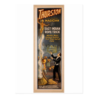Thurston's, 'Eastern Indian Rope Trick' Retro Thea Postcard
