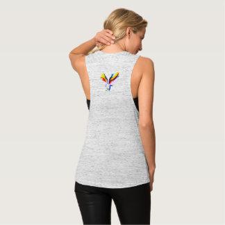 Thursty Soul Rainbow Bird Razor back Flowy Muscle Tank Top