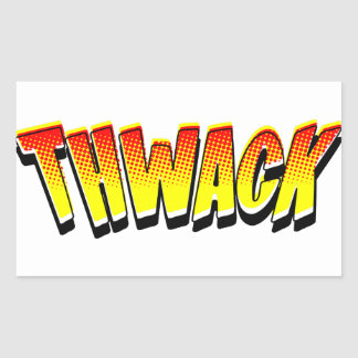 THWACK Comic Book Sound Effect Sticker