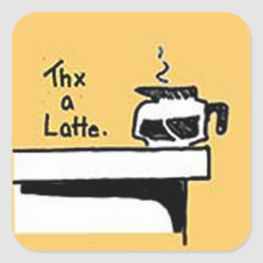 Thx A Latte Logo Square Sticker