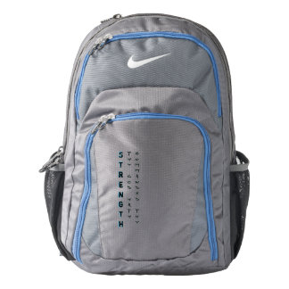 Thy God hath commanded thy strength Backpack