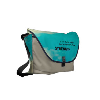 Thy God hath commanded thy strength Courier Bag