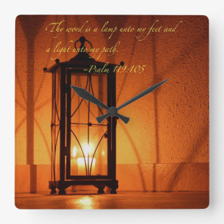Thy word is a lamp... clock