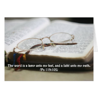 Thy Word is a Light Scripture Card