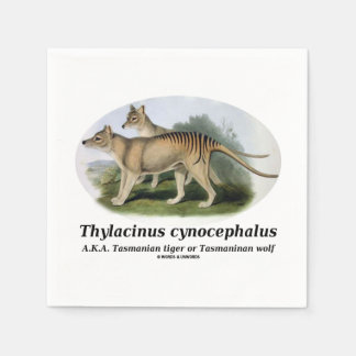 Thylacinus cynocephalus (Tasmanian tiger or wolf) Disposable Napkin