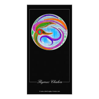 Thymus Chakra Personalized Photo Card