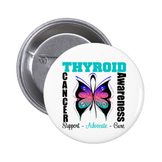 Thyroid Cancer Awareness Butterfly Pin