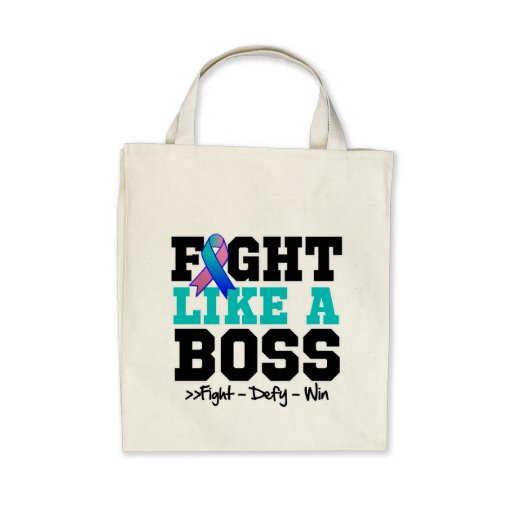 Thyroid Cancer Fight Like a Boss Tote Bags
