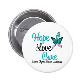 Thyroid Cancer Hope Love Cure Buttons