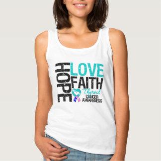 Thyroid Cancer Hope Love Faith Spaghetti Strap Tank Top