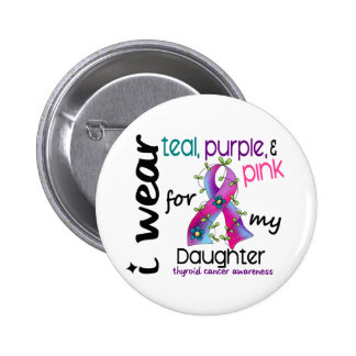Thyroid Cancer I Wear Ribbon For My Daughter 43 Pins